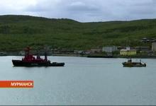 Спасательный буксир «Атрия» с аварийным судном